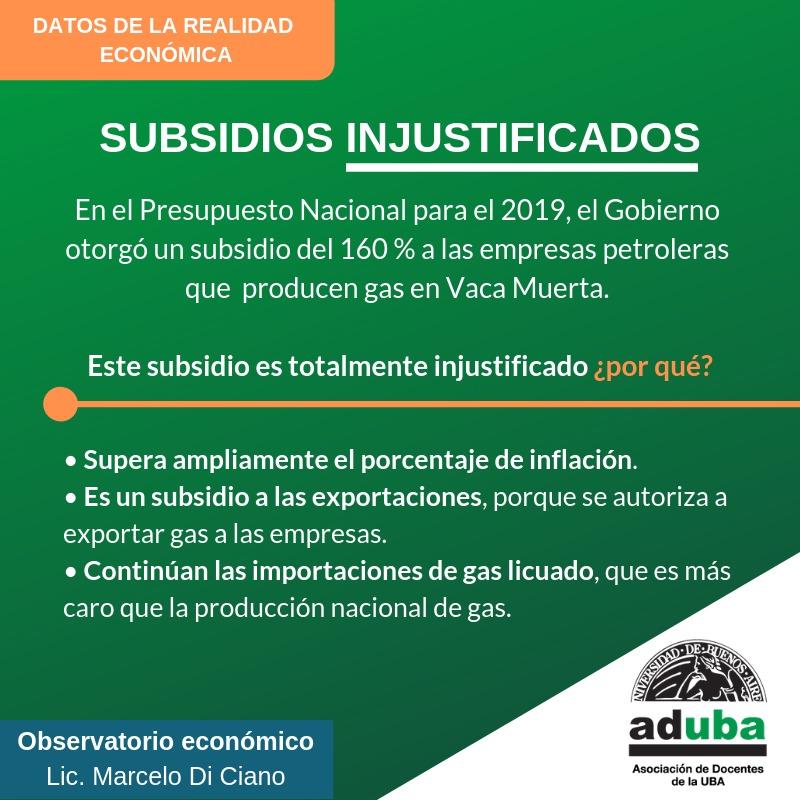 Subsidios injustificados