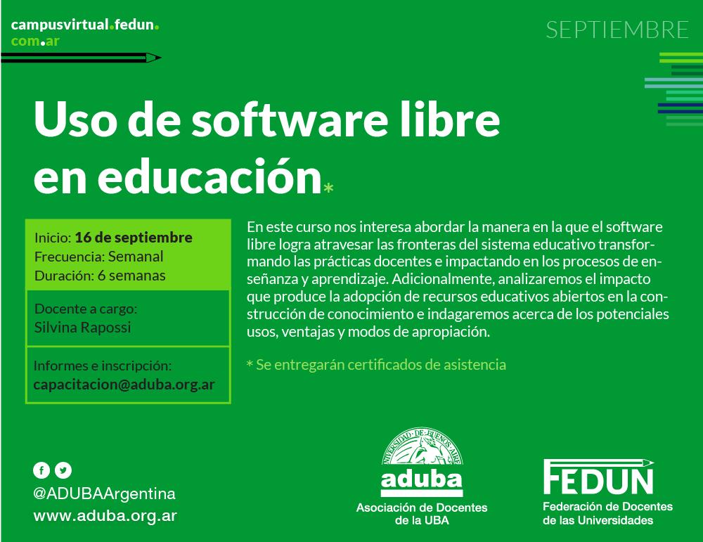 Uso de software libre en educación